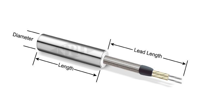 Cartridge Heaters with Stainless Steel Braid